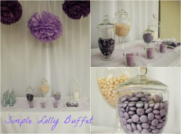 Kids Party Supplies | Kids Party Ideas Blog | Real Parties | Lilac Butterfly Themed Christening | Lolly Buffet | Read more on our blog at www.perfectkidspartyshop.com.au