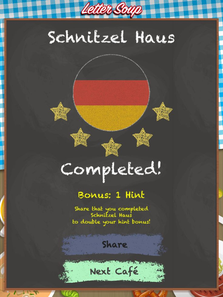 I just completed Schnitzel Haus in Letter Soup!  Download FREE for iOS: LetterSoupCafe.com