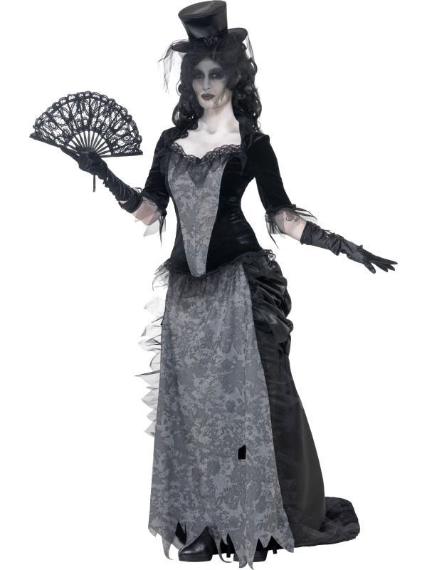 Adult Womens Ghost Town Black Widow Halloween Fancy Dress Costume - 3 Sizes #Smiffys #Costumes