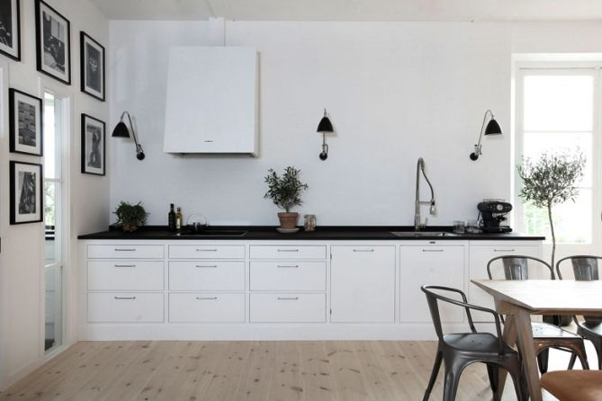 Vintage chic: Kjøkken i svart og hvitt / Black and white kitchens