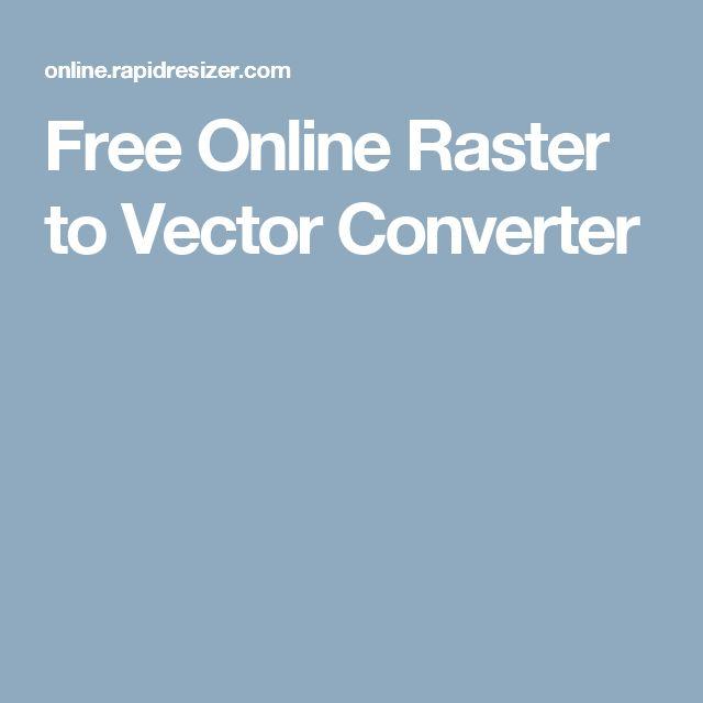 Free Online Raster to Vector Converter