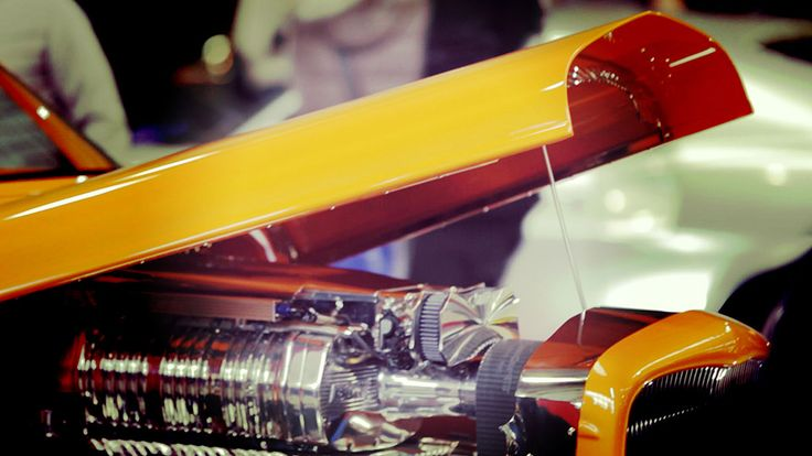 Hot Rod on display.