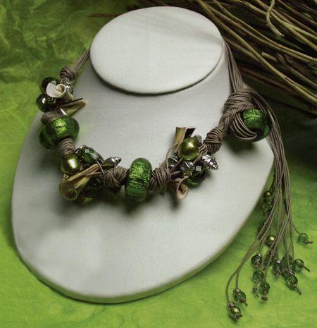 Bijoux: collana fai da te verde smeraldo