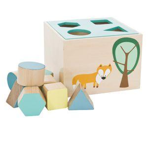Jeu éducatif en bois formes géométriques (2 coloris) Sebra
