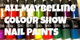 All Maybelline Colour Show Nail Paints