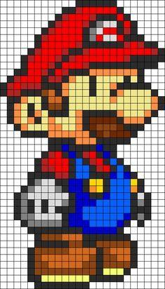 Patron Mario Bros pixel ganchillo