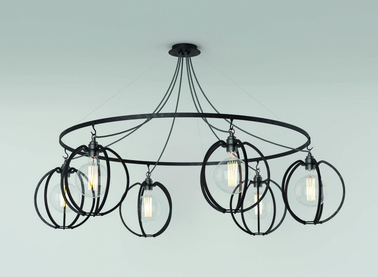 Farrier's Cage - Six Circle - Globe Exclusively available from Heal's Queens lighting showroom
