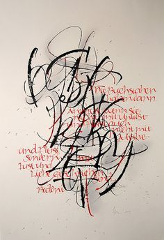 ✍ Sensual Calligraphy Scripts ✍ initials, typography styles and calligraphic art - BuchstabenII by betina naab