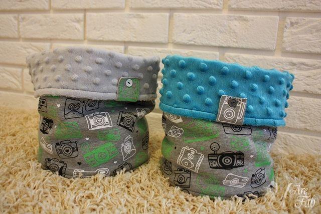 Handmade snoods for boys :)