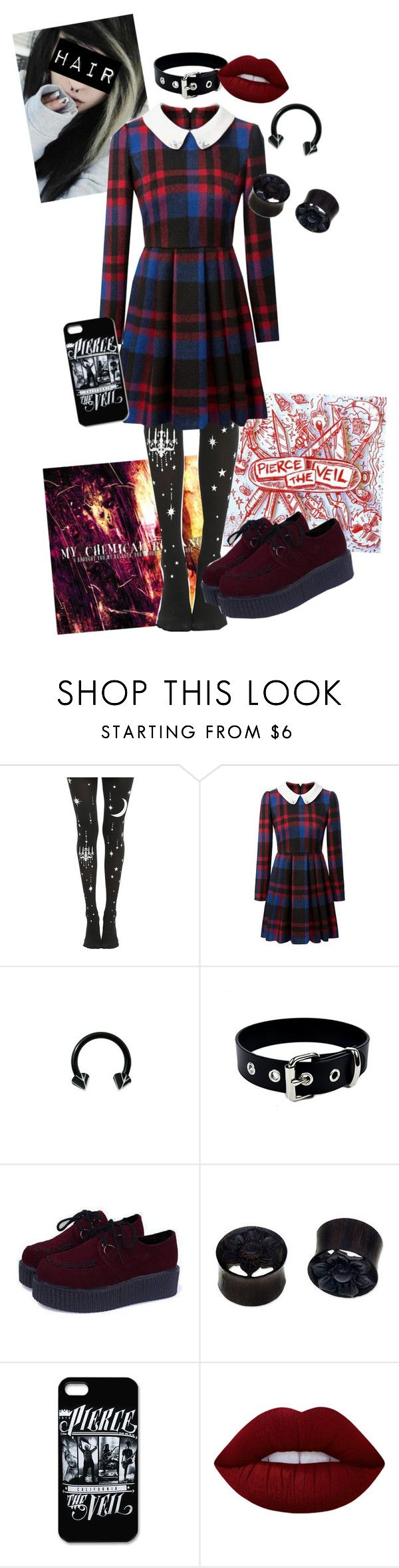 """""""The First Punch - Pierce The Veil"""" by chemicalfallout249 ❤ liked on Polyvore featuring NOVICA and Lime Crime"""