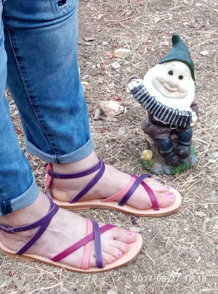 Sandali donna #cuoio #pelle #sandali #leather #sandal #artigianali #sandali cuoio #sandal leather #women #multicolor #flat