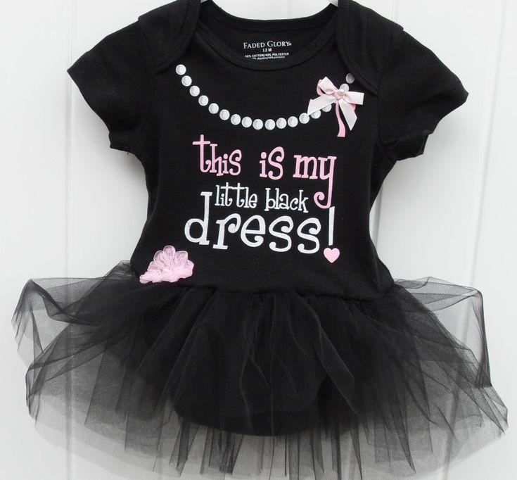 My little black dress onesie bodysuit