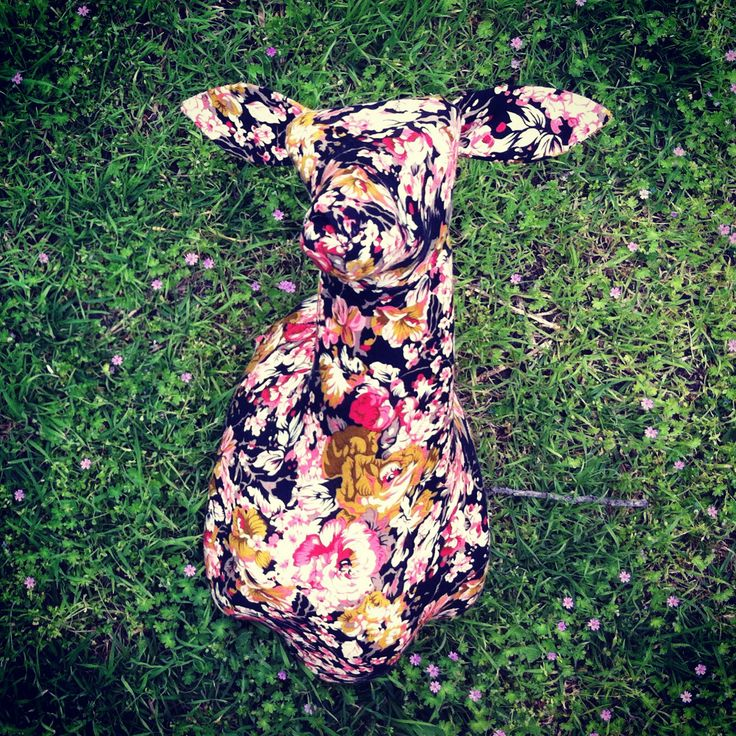 """""""Floral"""" faux fabric taxidermy by MKD #floral #fabric #taxidermy #fauxtaxidermy #mkd #theworkofmkd"""