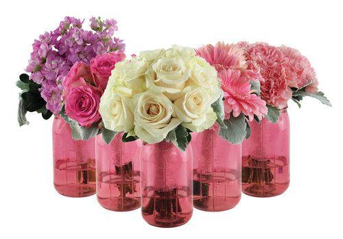 17 best images about centerpieces on pinterest tea for Jardin glass jars