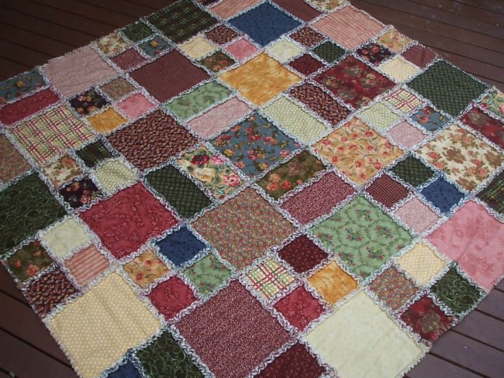 Flannel Rag Quilt Directions | This was fun to make, but wow, cutting into all those raggy edges sure ...