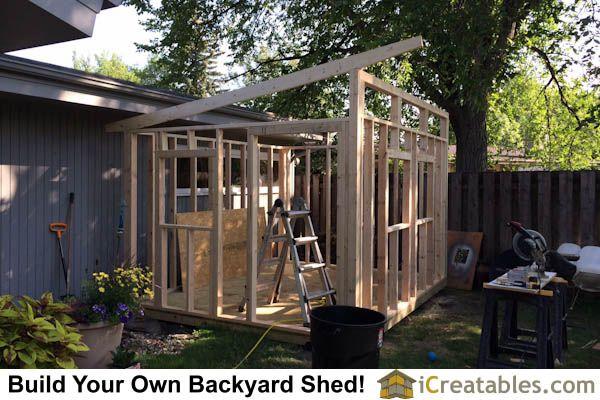 10x12 modern shed wall framing