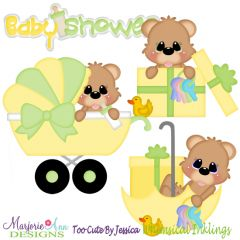 Baby Shower Bears-Neutral SVG Cutting Files Includes Clipart