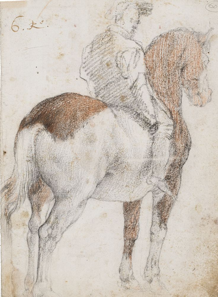 Have this drawing inspire you: Horse Rider by Federico Zuccaro, the most famous painter in Europe after the death of Titian in 1576, comes from an important 19th-century Spanish collection and will be published in James Mundy's catalogue raisonné of the artist's work. Find this Black and Red Chalk sheet at Artur Ramon Art during Salon du dessin 2017, March 22-27.