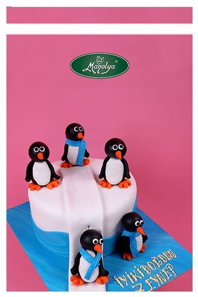 #manolyapastanesi #patisserie #istanbul #cake #cakedesign #penguins #yummy #celebration #celebrationcake