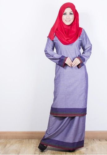 KURUNG RIAU TENUN - Purple from Yaty's in Purple and Multi This is a trendy design of our Kurung Riau Tenun collection Suitable with plain and printed shawl Made of high quality heavy tenun This elegant Kurung Riau Tenun will embrace a classy look for you on special occasions or daily wear ... #bajukurung #bajukurungmoden