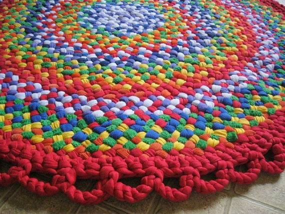 Handmade Rainbow Braided Rug // Rainbow Nursery