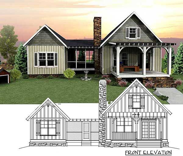 3 Bedroom Dog Trot House Plan - 92318MX | Cottage, Mountain, Vacation, Exclusive, Narrow Lot, Photo Gallery, 1st Floor Master Suite, CAD Available, Jack & Jill Bath, Loft, PDF, Split Bedrooms | Architectural Designs