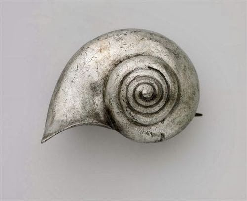 Pin (fibula) with snail Roman, Imperial Period, 2nd–3rd century A.D. Museum of Fine Arts Boston