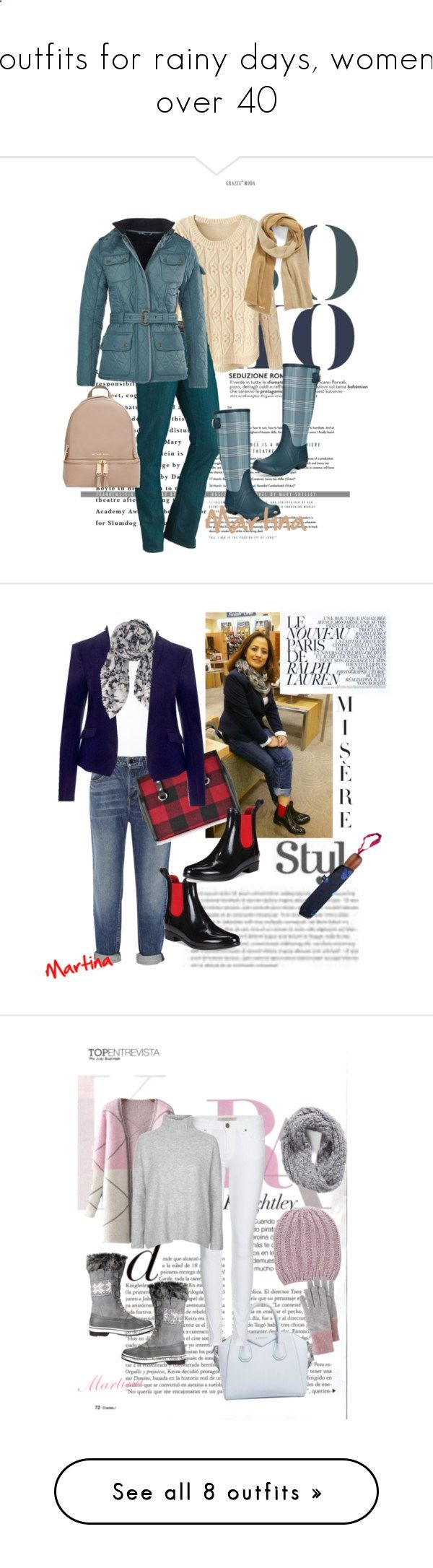 outfits for rainy days, women over 40 by martina-nossa on Polyvore featuring Marmot, MICHAEL Michael Kors, Barbour International, Tommy Hilfiger, Max n Chester, Alexander Wang, BeckSöndergaard, Ralph Lauren, Dsquared2 and Joules