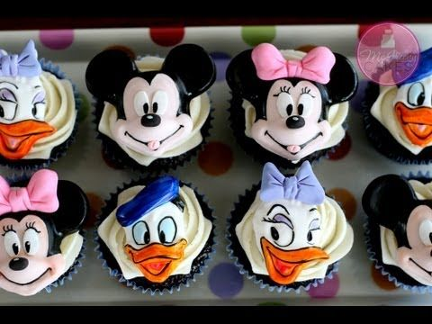 How to Make Mickey & Minnie Cupcake Toppers ~ McGreevy Cakes Video Tutorial