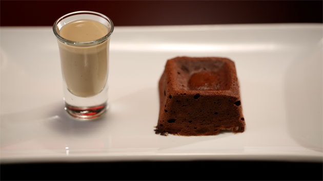 Chocolate Fondants with Coffee Crème Anglaise