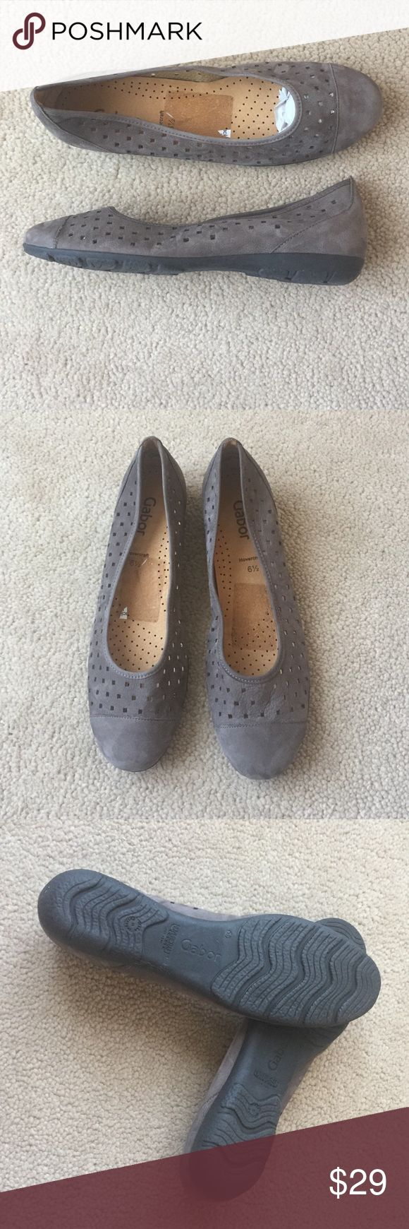 Gabor leather ballet flats women's 9 grey suede Gabor leather ballet flats women's 9 grey suede , U.K. Size 6.5, brand new, super comfortable shoes, taupe grey colour, made in Portugal  gabor Shoes Flats & Loafers