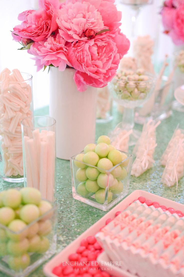 This beautiful summer wedding sweet bar was styled around a fresh and vibrant colour palette of mint and peony pink. The custom mint sequin tablecloth was the base to build this vibrant and romantic treat station. With custom chocolate wraps, a stunning selection of gourmet treats and fresh floral touches ensured this sweet bar complimented this romantically relaxed marquee wedding. Youtube: https://www.youtube.com/watch?v=qR3aFJ8CRcY