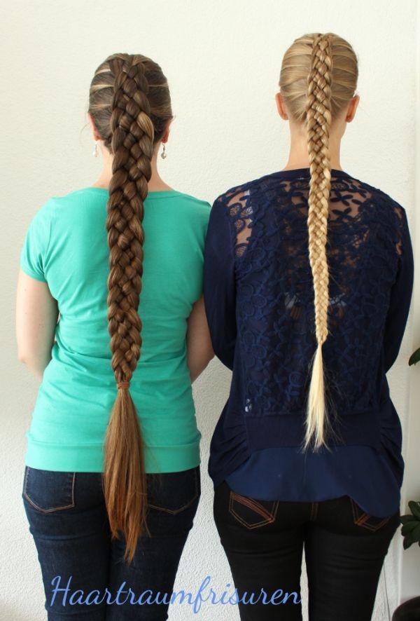 Two five Strand braids