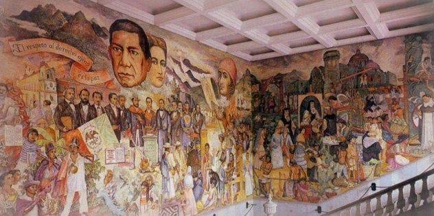 Mural de benito ju rez por arturo garc a bustos palacio for Benito juarez mural