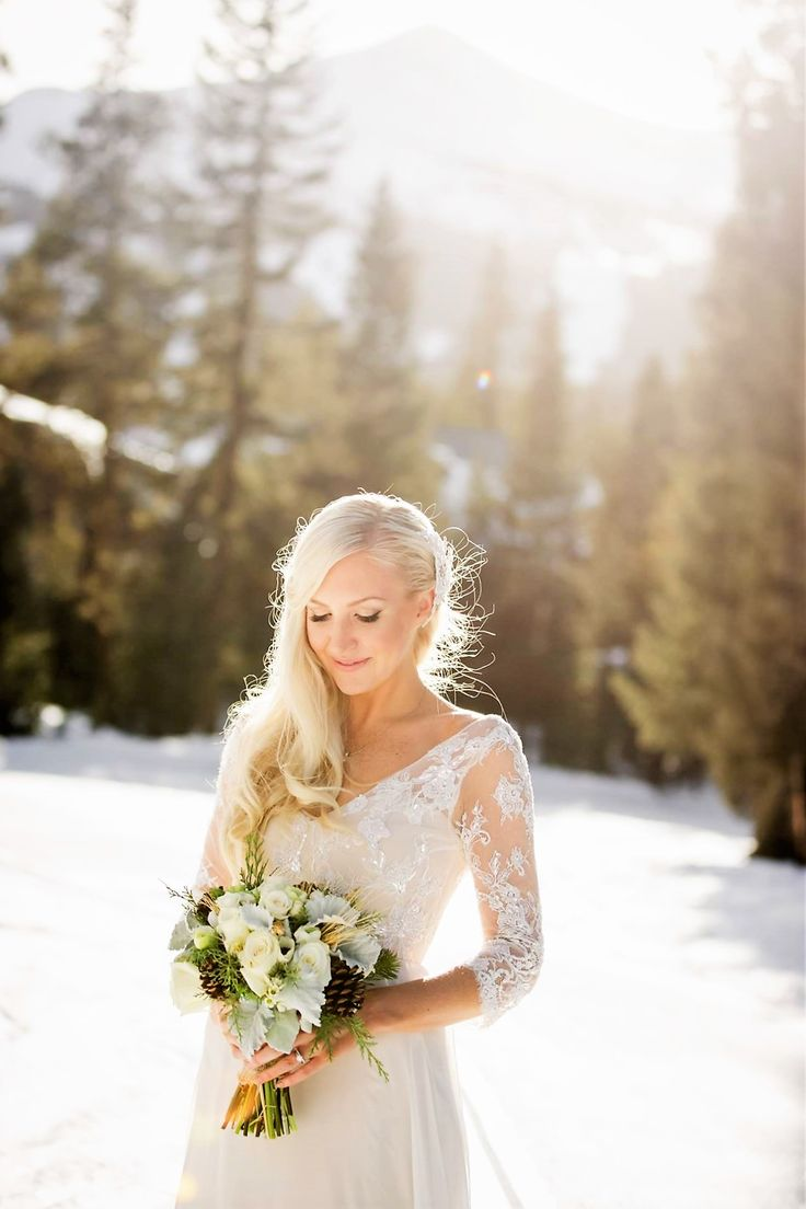 This couple came all the way from Australia to have a winter wedding  #Breckenridge #Florist #Flowers #Wedding  Florals by Petal & Bean Breckenridge, CO
