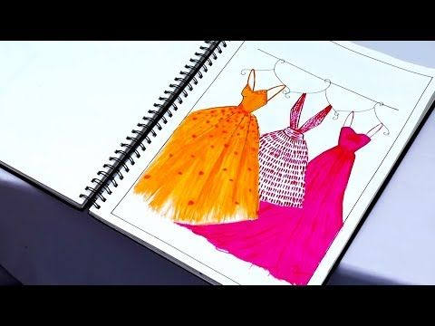 My Fashion Project Fashion Illustrations Application Of Design Kiran Saro Youtube Dress Design Drawing Fashion Illustration Fashion Project