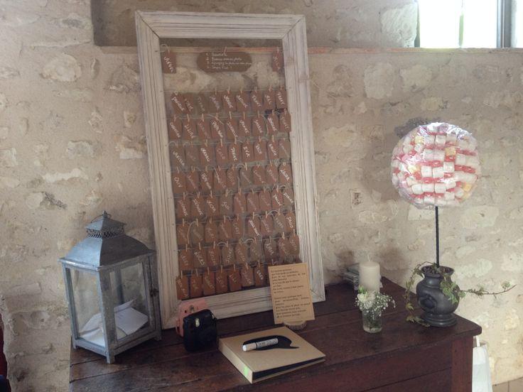 Plan de table Mariage champêtre Alexa réception Wedding planner  Centre France
