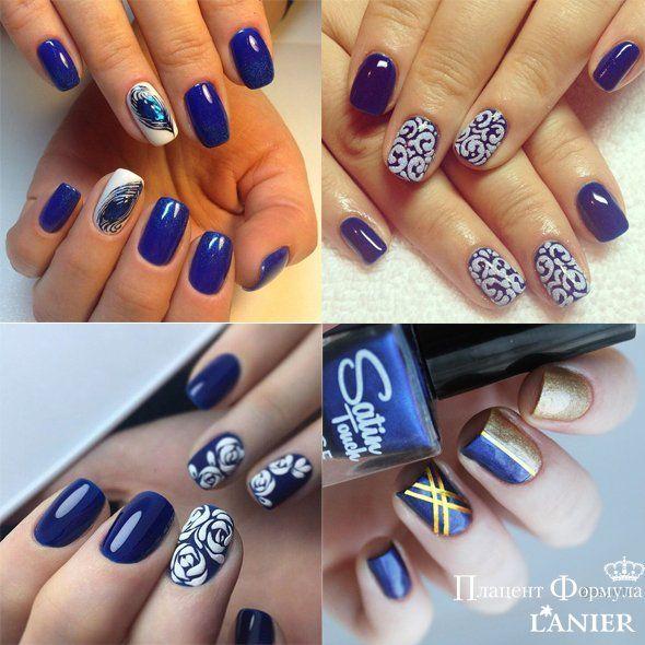 маникюр, маникюр на святого валентина, ногти, маникюр, дизайн ногтей, маникюр на весну, синий маникюр, голубые ногти, синие ногти
