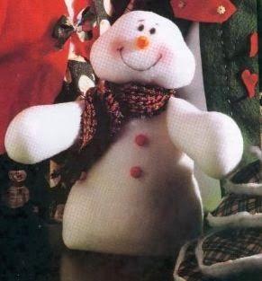 Muñecos de nieve en fieltro con patrones ~ cositasconmesh