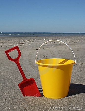 bucket and spade.....hours and hours of fun with these!