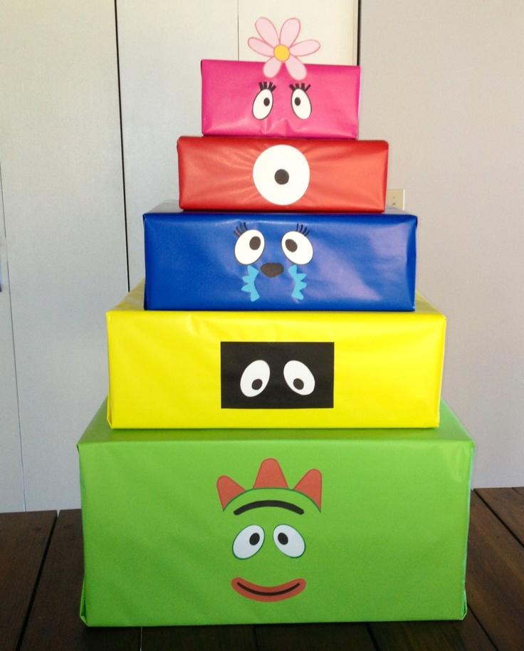 Yo Gabba Gabba Diy Present Box Just Take Old Boxes
