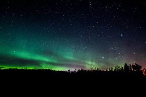Aurora Borealis - North of Cold Lake, Alberta, Canada