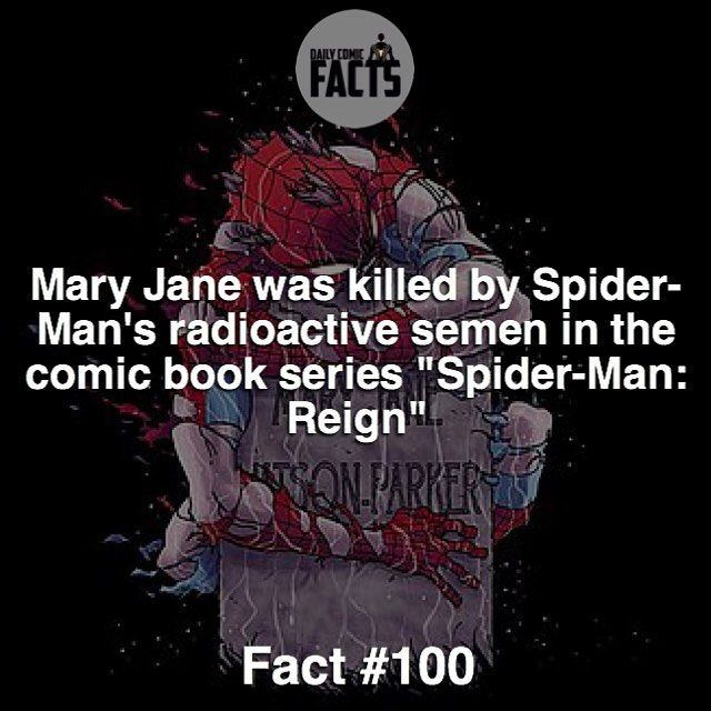Fact/ Joke guys... We did it. Fact number 100 right here! New Profile picture/ Bio/ Fact design coming up soon!  #marvel #dailycomicfacts by devilzsmile.com #devilzsmile
