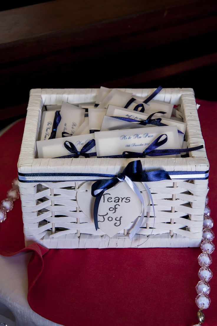 Tears of Joy Tissue Pockets - For Church Ceremony