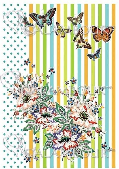 DGR 294  #decoupage #butterflies #farfalle #pois #hobby #cartadiriso #ricepaper #craft #calambour #handmade #decoration