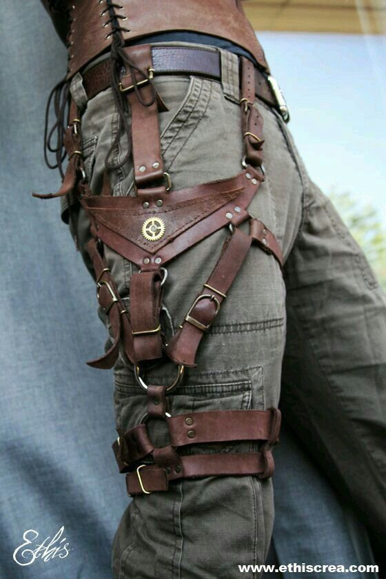 Steampunk leg harness https://www.steampunkartifacts.com/collections/steampunk-wrist-watches