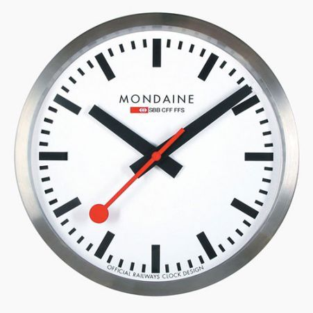 Indish - Designer furniture, lighting and accessories - Mondaine Wall clock by Hans Hilfiker