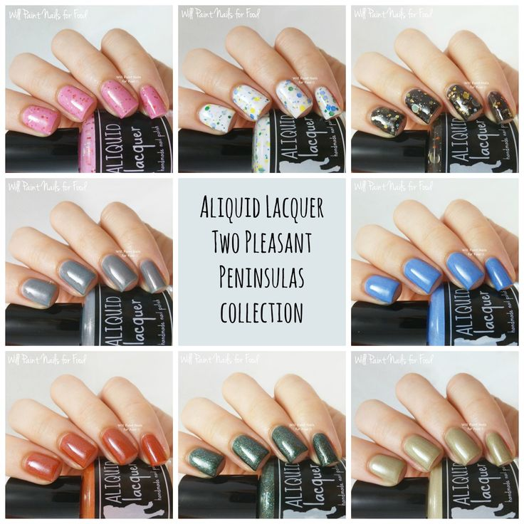 Aliquid Lacquer, Swatches and Review: Two Pleasant Peninsulas Collection