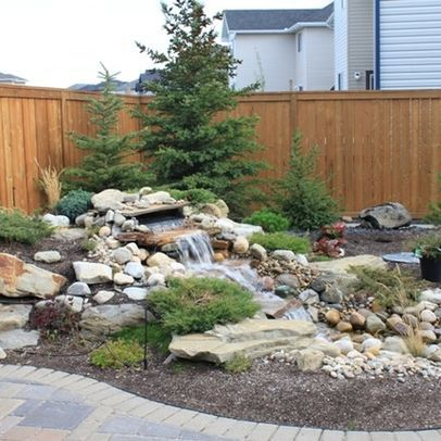 872 best backyard waterfalls and streams images on pinterest backyard ideas backyard ponds - Corner pond ideas ...