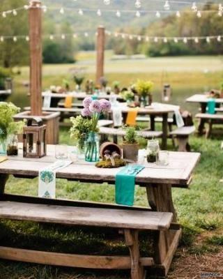 #country wedding con particolari color #tiffany